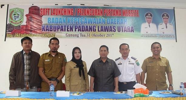 Soft Launching Website  Badan Kepegawaian Daerah Kab. Padang Lawas Utara
