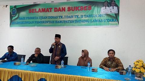 Penyelenggaraan Kegiatan Ujian Dinas Tingkat I Dan Tingkat II Kabupaten Padang Lawas Utara