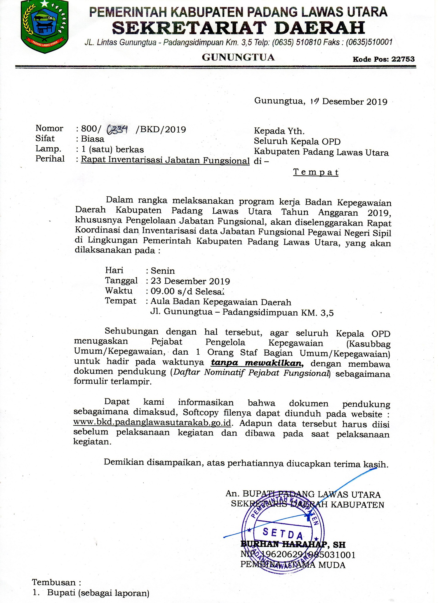 Softcopy File  Formulir Rapat Inventarisasi Jabatan Fungsional